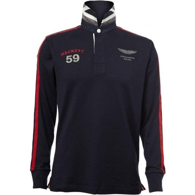 12d579e274c Buy Aston Martin Racing Hackett Rugby Shirt | Hackett of London ...