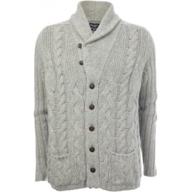 Chunky Shawl-Neck Cable Knit Cardigan