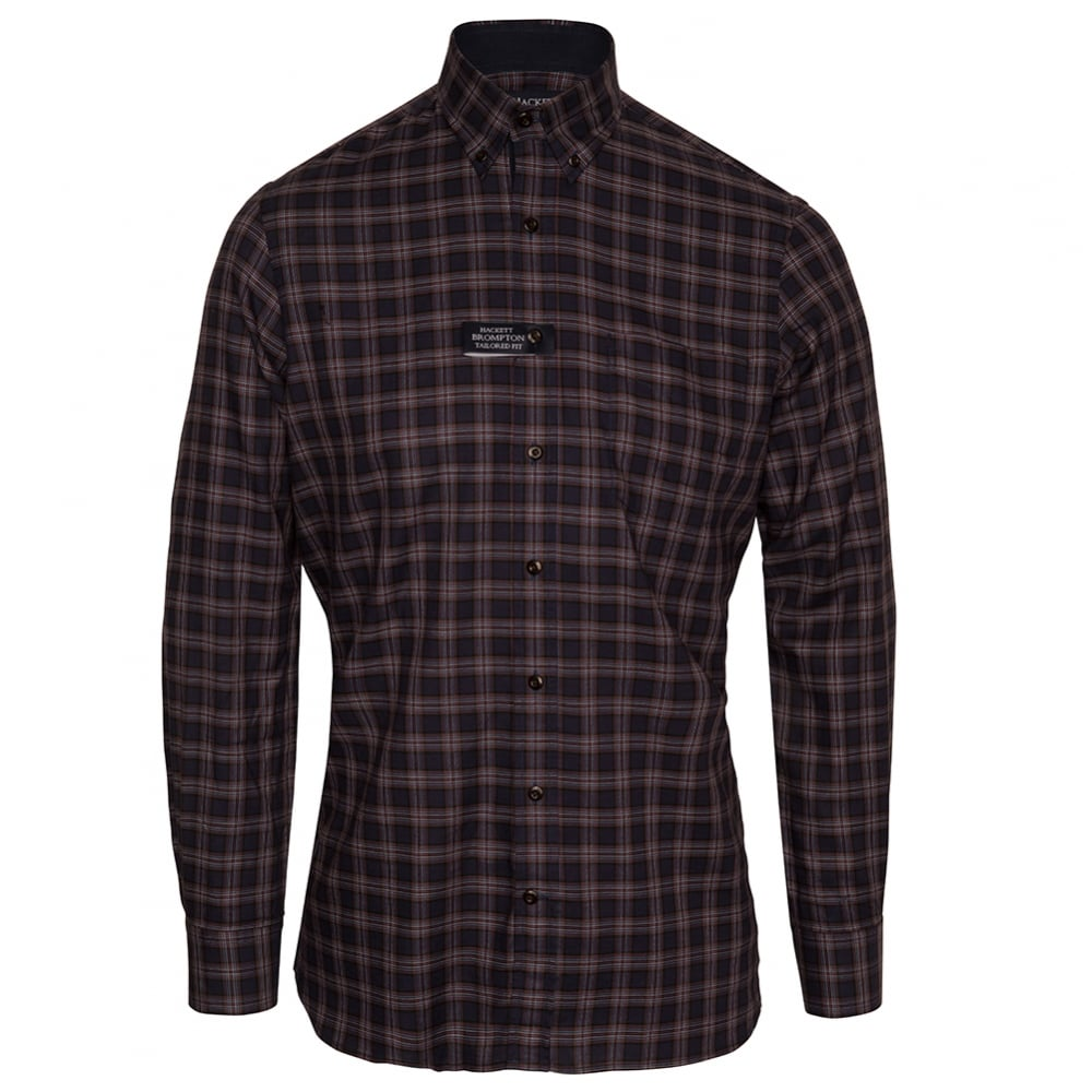 5359c6885a64 Buy Long Sleeve Twill Plaid Shirt by Hackett London | @ Fussy Nation