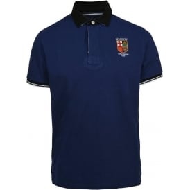 LRC Union Jack Collar Polo Shirt, Blue