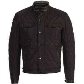 Mens Aston Martin Racing, AMR Quilted Bomber Jacket, Black