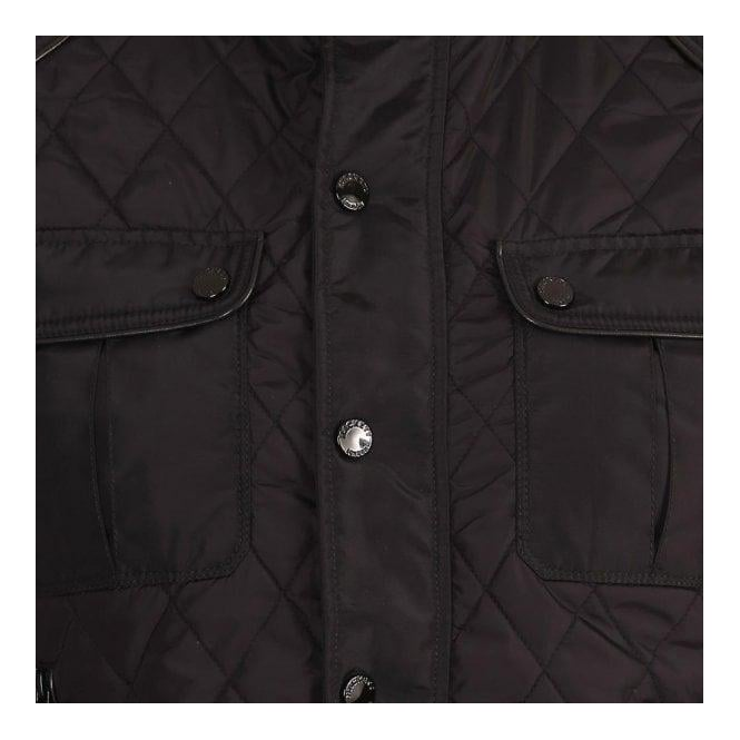 buy good reliable quality authentic Hackett Mens Aston Martin Racing, AMR Quilted Bomber Jacket, Black