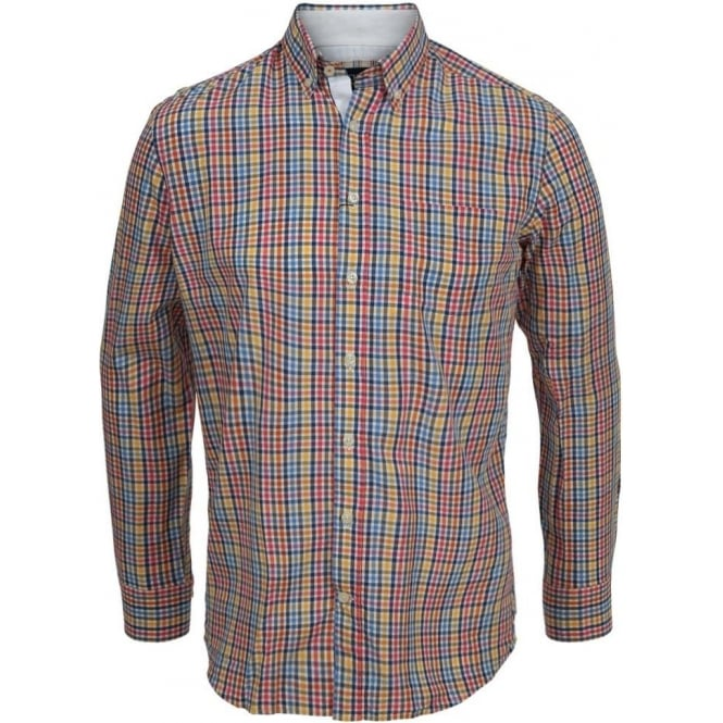 Hackett Multi-Check Pin-Point Shirt