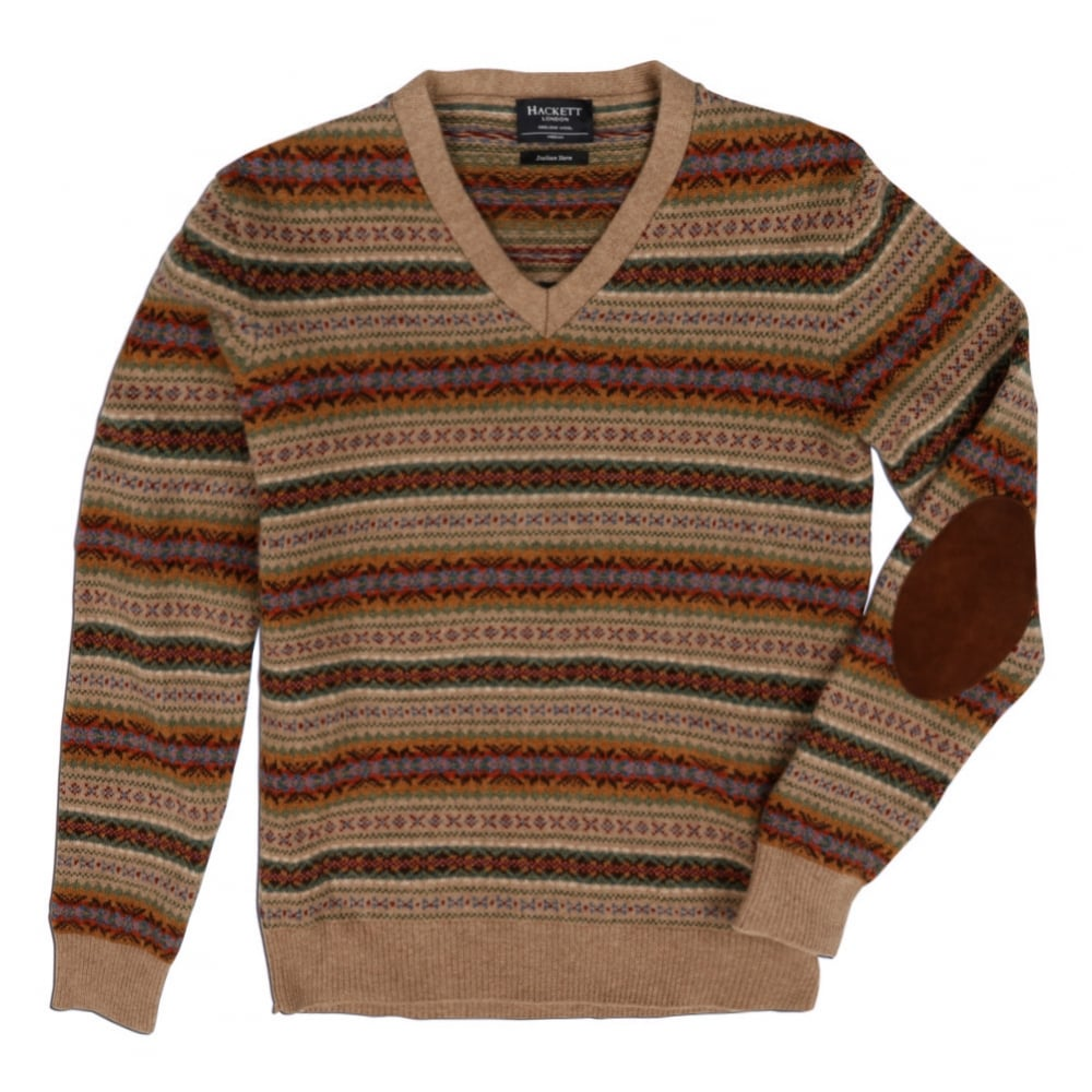edf4986c844f02 Buy Hackett Men's Rustic Fair Isle V-Neck Sweater| Hackett | @ Fussy ...