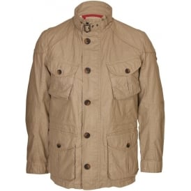 Wax Coated Linen Serengeti Field Jacket, Sand