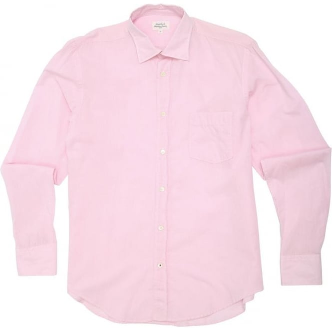 Hartford Chambray Voile Shirt, Pink