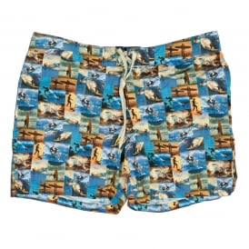 Surfer Photo Print Short, Multi