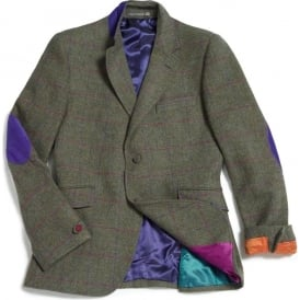 Shooting Jacket with Suede Elbow Patches