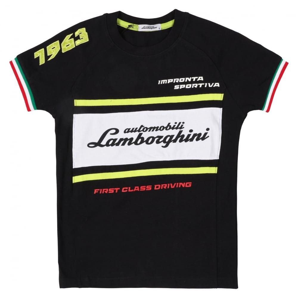 automobili lamborghini 1963 racing t shirt by lamborghini. Black Bedroom Furniture Sets. Home Design Ideas