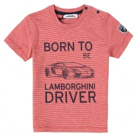 Automobili Lamborghini Striped Baby T-Shirt