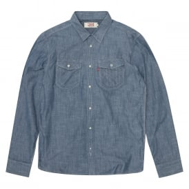Levi's Solid Blue Shirt