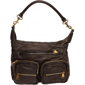 Ania Double Edge Bag, Black