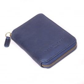 Kiku Leather Compact Zip Purse