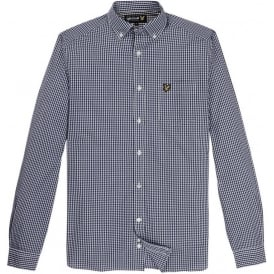 Long Sleeve Gingham Shirt, Admiral Blue