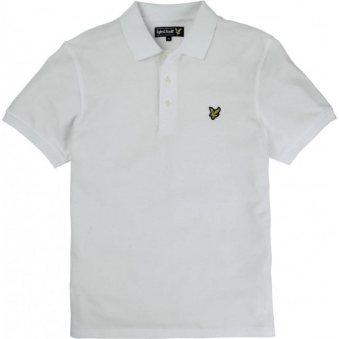 Lyle and Scott Short Sleeve Plain Pique Polo Shirt, White