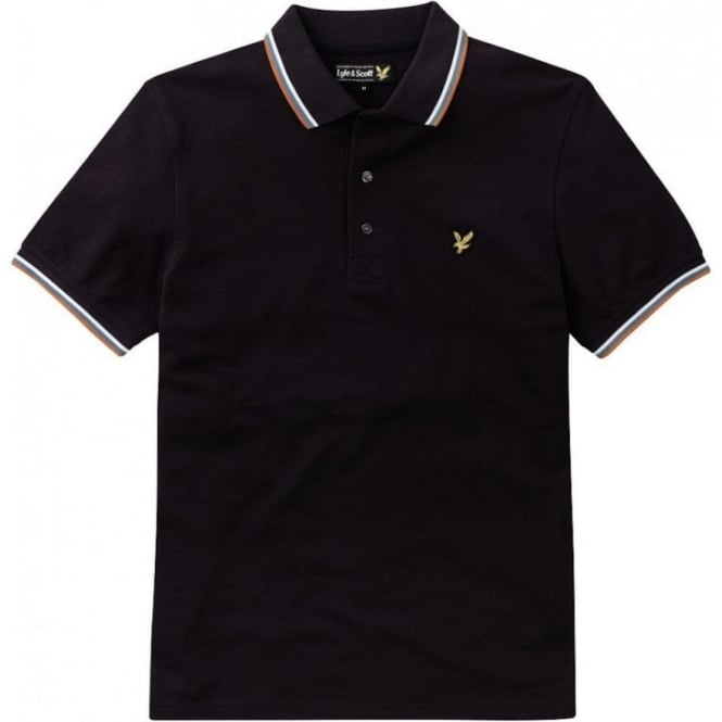 Lyle and Scott Short Sleeve Tipped Polo Shirt, New Navy