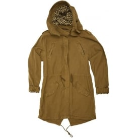 Garment Dyed Cotton Hooded Parka, Colour 82