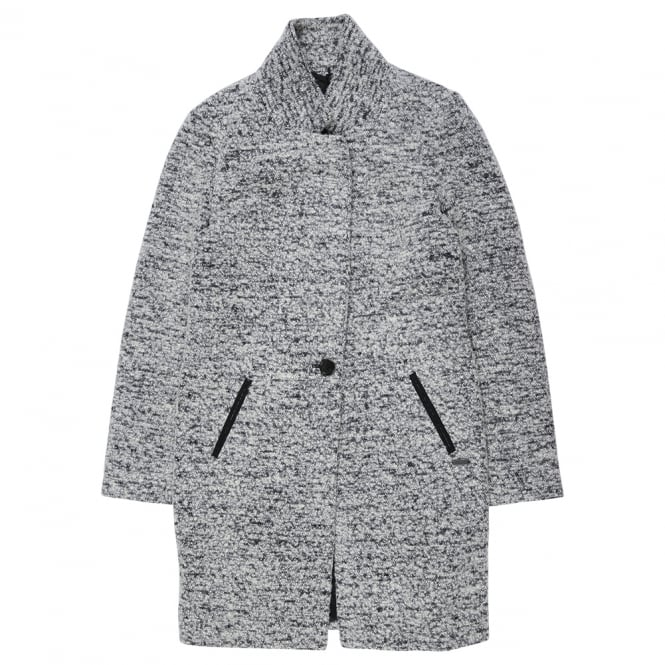 Maison Scotch Long Grey Coat