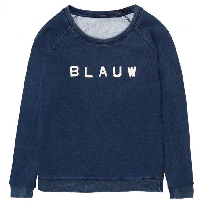 Maison Scotch Sweater with Enamelled Letters