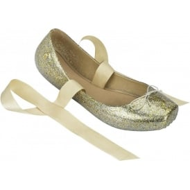 Ballet 13 'Pointe-Style' Pumps, Gold Glitter A