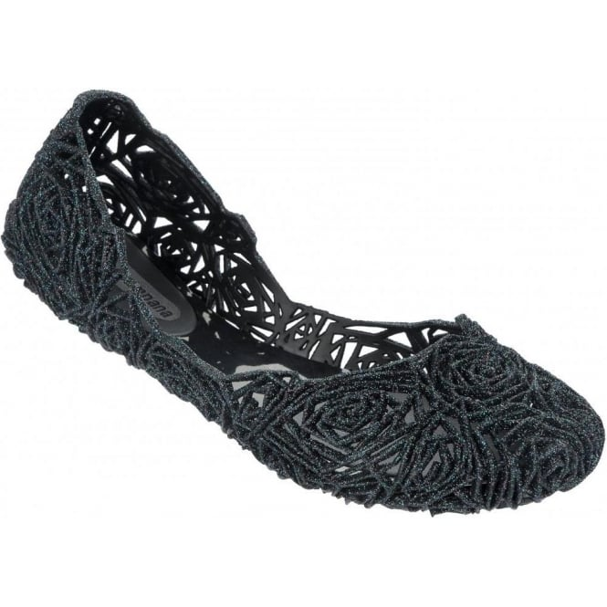 Melissa Shoes Campana Fitas 13, Midnight Glitter A