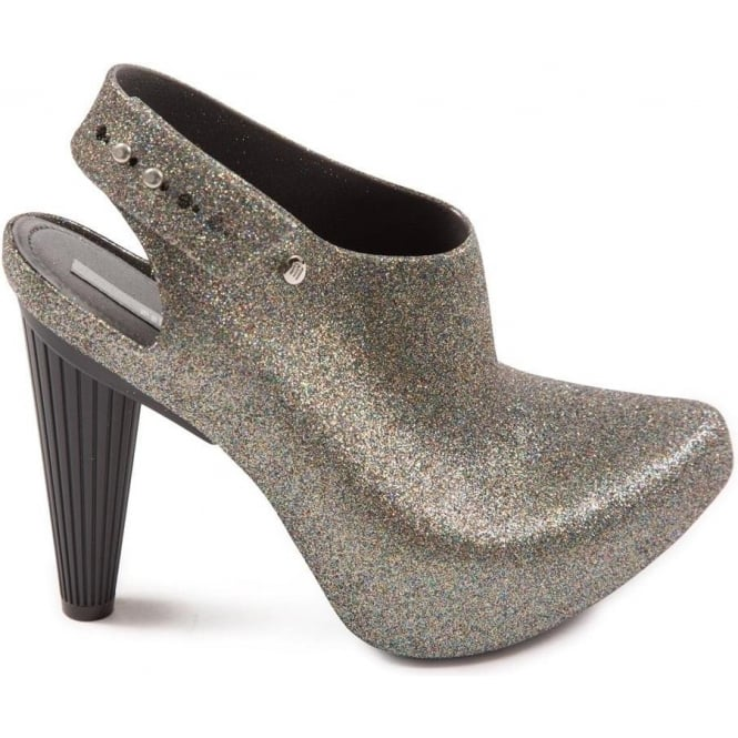 Melissa Shoes Cross Multi Glitter High Heel Shoe