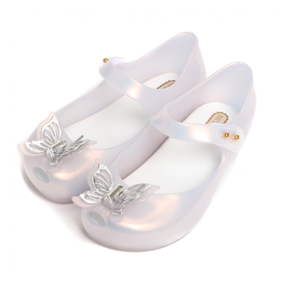 dirt cheap beauty save up to 80% Melissa Shoes Mini Melissa Ultragirl Butterfly Shoe, Frost