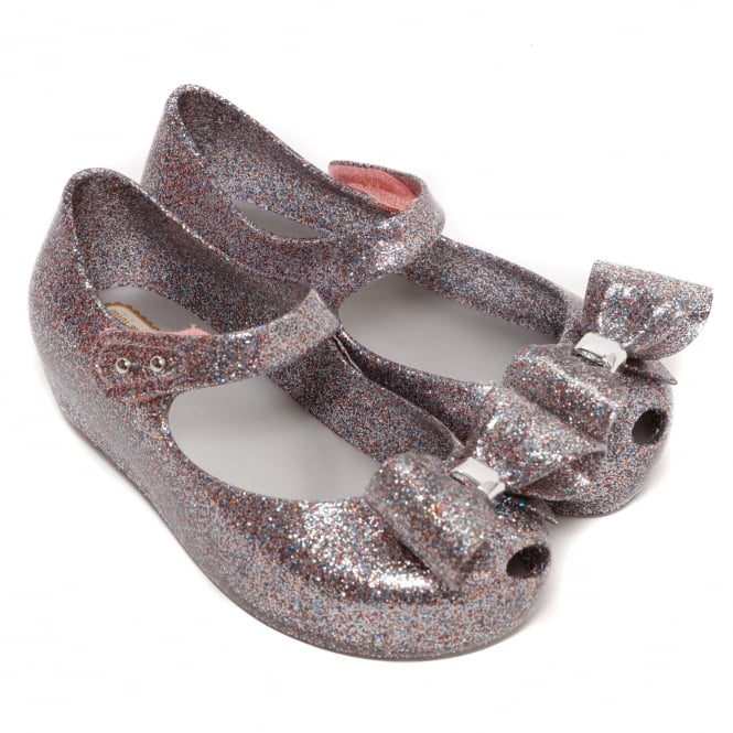 Melissa Shoes Mini Ultragirl Bow 19, Multi Glitter