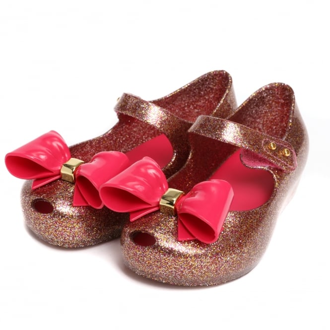 Melissa Shoes Mini Ultragirl Bow Glitter