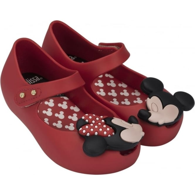 Melissa Shoes Mini Ultragirl Minnie Mouse 15, Red