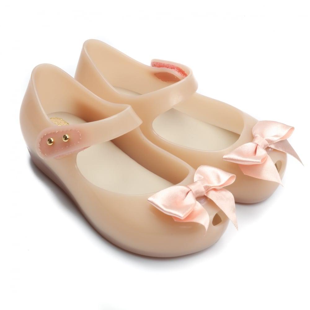 Mini Melissa Ultragirl Silk Bow Shoes