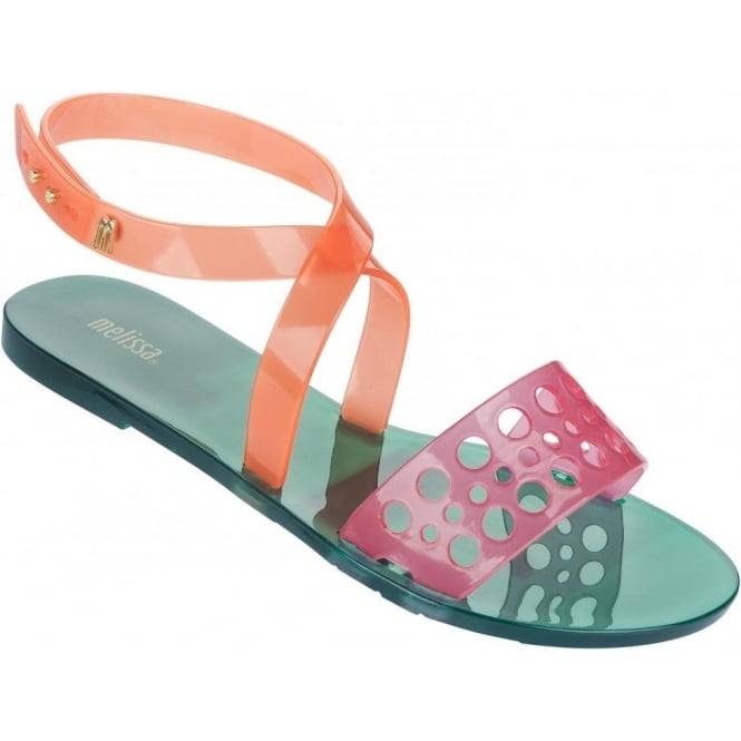 Melissa Shoes Tasty Sandal, Pink & Orange