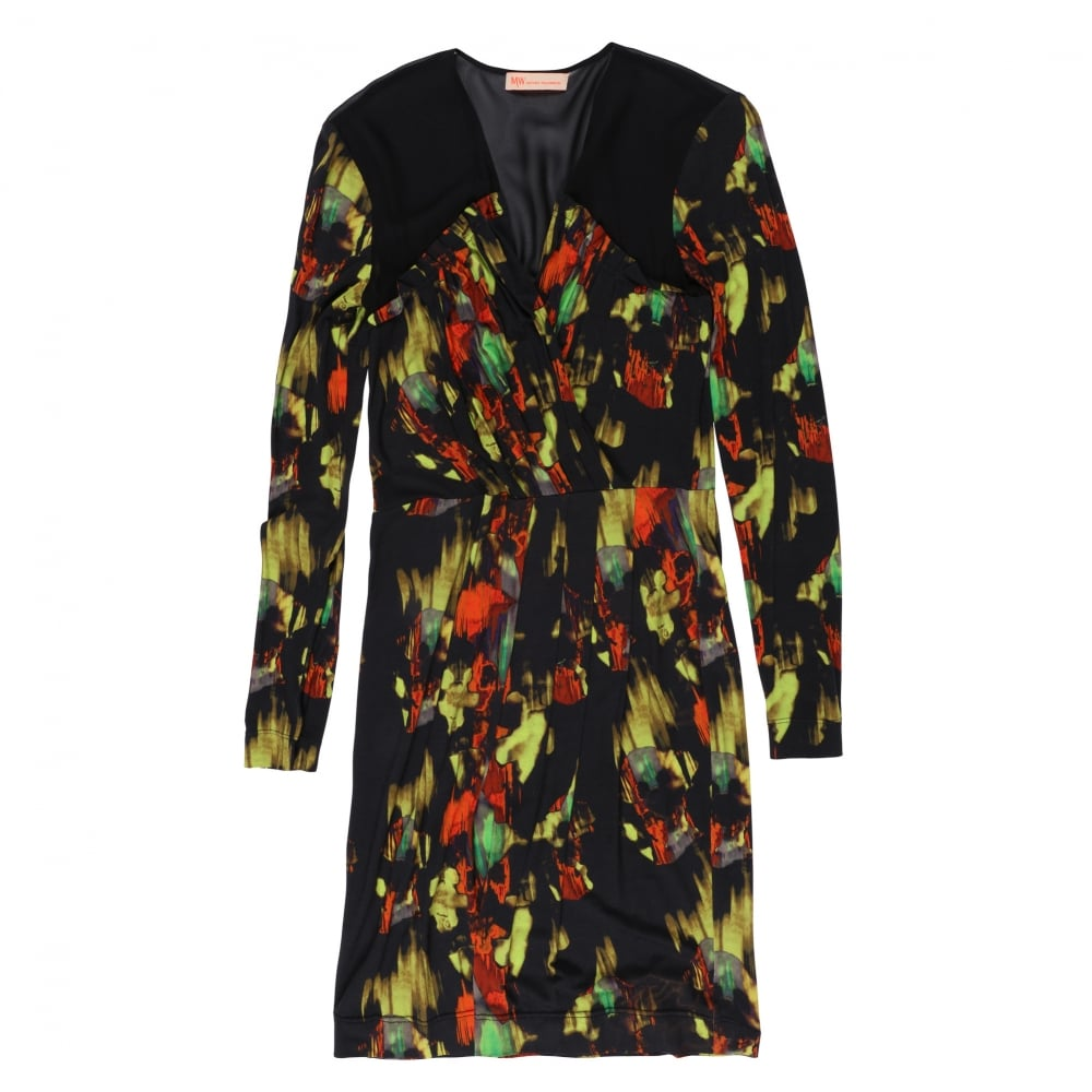 5efa5bf77e MW Matthew Williamson Blurred Floral Print Dress  Fussy Nation