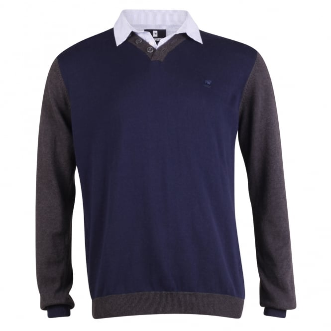 Peter Werth Long Sleeve Colour Block Knit