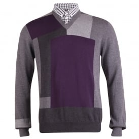 Long Sleeve Colour Block Knit
