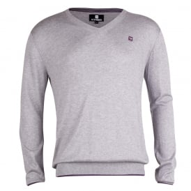 Long Sleeve Insert V-Neck Jumper