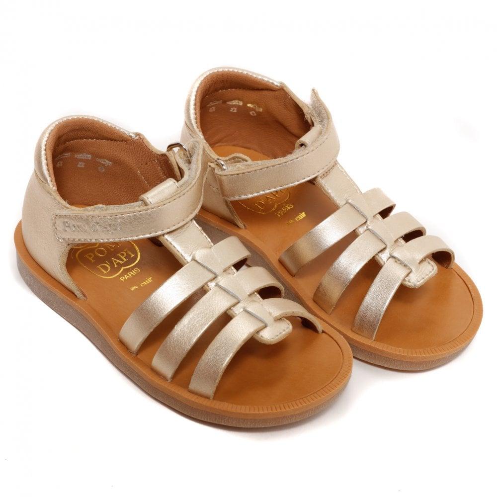 D'api Metallic Poppy Sandals Pom Platine Iedh29yw Strap E9HID2