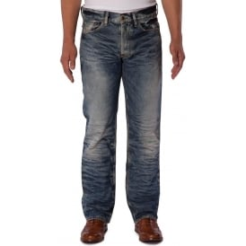 Mens Slim Straight Fit Lagoon Wash Denim Jean