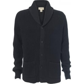 Rough Cotton Shawl Neck Cardigan