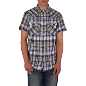 Short Sleeve Madras Western Check Shirt (Hadley Plaid)