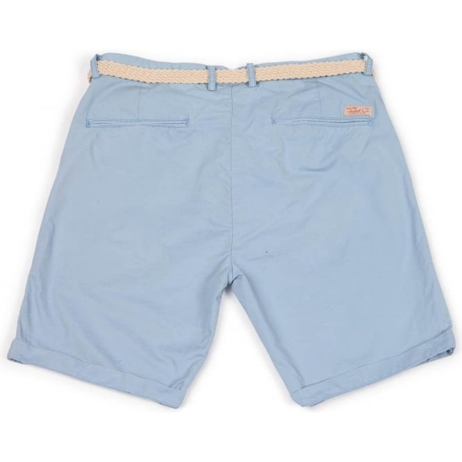 Buy Scotch & Soda Mens Belted Chino Shorts in Blue | Scotch & Soda ...
