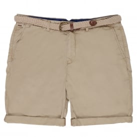 Belted Pima Cotton Shorts