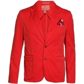 Bright Washed Mens Blazer (Rosso)
