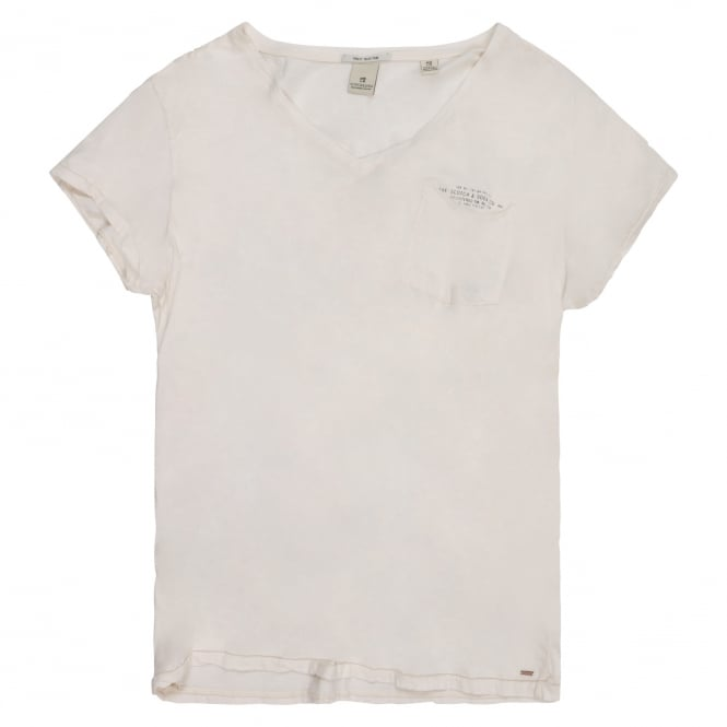 Scotch & Soda Cotton V Neck T Shirt