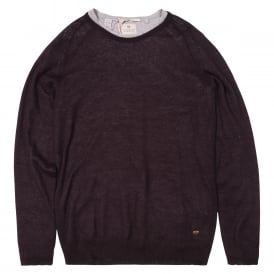Crew Neck Pullover With Inner Tee