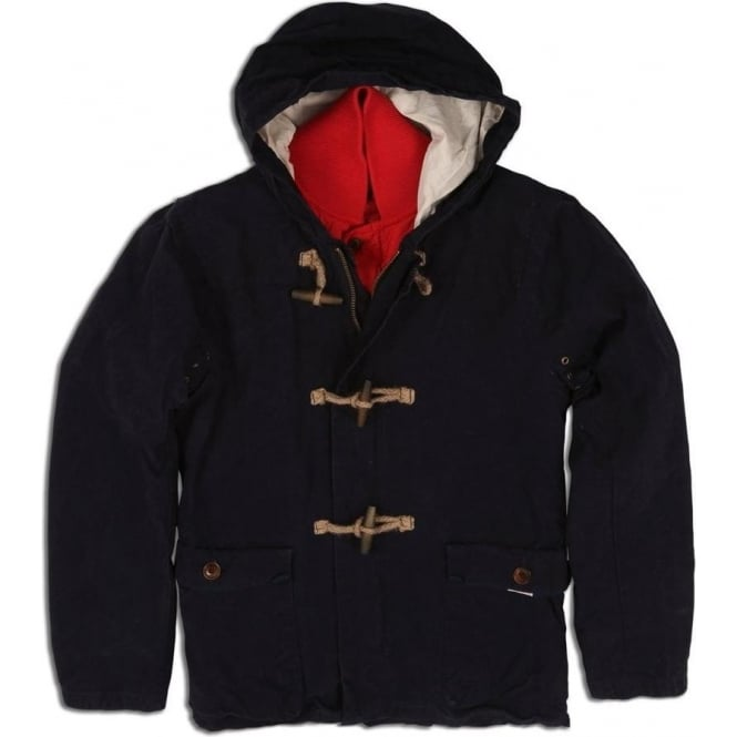 Scotch & Soda Duffle Coat with Inner Quilted Detachable Jacket Combination (Navy)