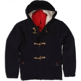 Duffle Coat with Inner Quilted Detachable Jacket Combination (Navy)