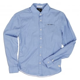 Electric Blue Long Sleeve Plain Shirt