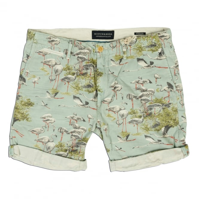 Scotch & Soda Flamingo Print Theon Short, Dessin A