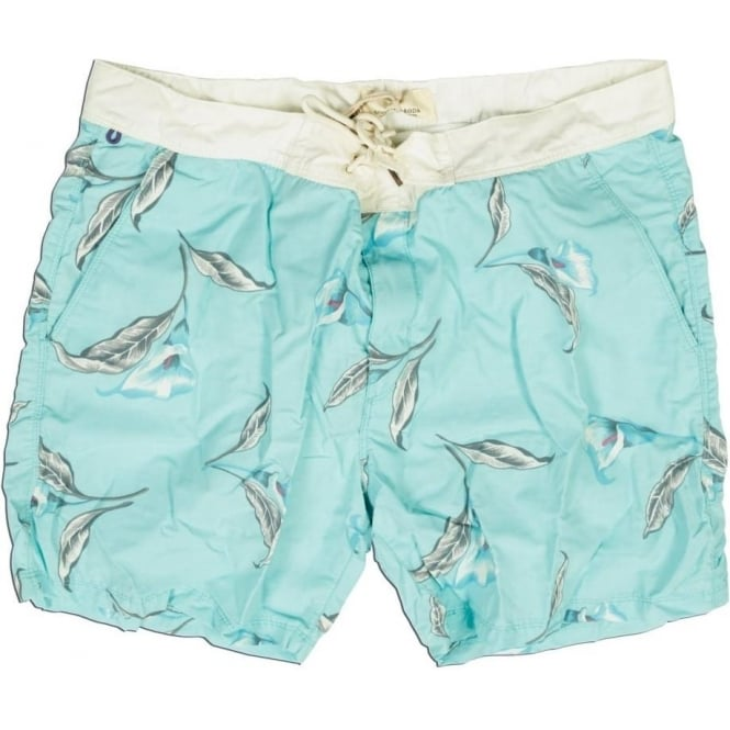 Scotch & Soda Leaf Print Swim Shorts, Dessin H